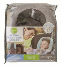 Air flow head neck support /infant/newborn for carseat pram strollers - charcoal