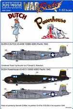 Kits World Decals 1/32 B-25J MITCHELL Bomber Dutch & Powerhouse