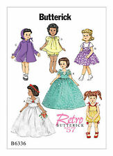 """Butterick B6336 Retro '57 Pattern Retro Outfits for 18"""" Doll OSZ BN"""