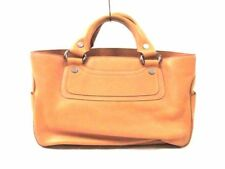 Auth CELINE Boogie Bag OrangeBeige Leather Handbag w/Dust Bag