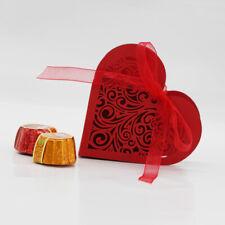 20 stk. Liebe Herz rot Candy Geschenkbox Schachtel Hochzeit mit band