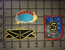 Set Of 3 Babylon 5 Patches: Command, Ranger, Uniform Shield Sword - New Unused