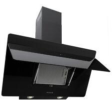 Cappa Aspirante da Cucina Acciaio Inox Montaggio Parete 90cm Quadrato Nero