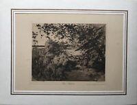 Aquatinta Radierung Hans Seydel 1866-1916 Bei Sacrow Brandenburg Landschaft