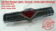 Smoked LED Rear Bumper Reverse Brake Light 13+ Scion FRS Subaru BRZ Toyota GT86