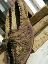 Antiguo 19thC otomano con cuentas de Terciopelo Mujer Zapatos De Oro Metálico Bordado