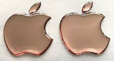 2 x 3D Domed  Apple Rose logo stickers for iPhone, iPad cover. Size 35x30mm