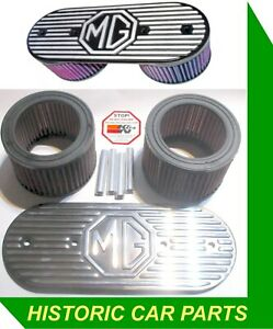 """MG AIR FILTERS KN Washable for 1½"""" SU HS4 Carbs on MGBGT MGB ROADSTER 1962-71"""