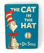 The Cat In The Hat VINTAGE 1957 Dr. Seuss book club young reader youth a thing 1