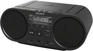 SONY ZS-PS50 CD BOOMBOX PLAYER WITH USB PLAYBACK BLACK AM/FM RADIO MP3 NEW