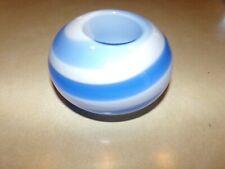 Partylite Blue & White Swirl Round Tea Light Votive Candle Holder