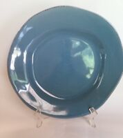 "Pier 1 One Elemental Earthenware 12"" Dinner Plate in Smoke Blue solid dinnerware"