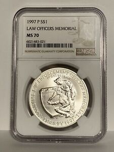 1997-P Law Officers Memorial NGC MS70