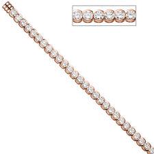NUOVO 7 mm Donna Lusso GLITTER armkette 925 ARGENTO 925er Zirconia Bracciale 19 cm