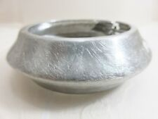 "1"" Wide Shapely Clamper Bracelet Ageless Shiny Brushed Silver tone"