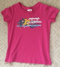 ROXY KIDS 100% Cotton Girls Pink Short Sleeve Top T-Shirt Size M/5