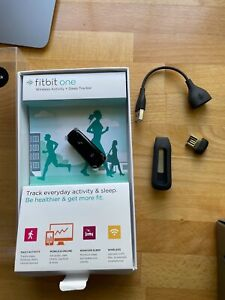 Fitbit One Black Activity & Sleep Tracker With Accessories.