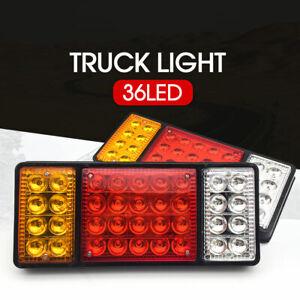 2x 12V 36 LED Ute Rear Trailer Tail Lights Caravan Truck Boat Car Indicator Lamp