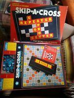 Vintage 1954 Skip-A-Cross, the Word tally Game - Cadaco Ellis No. 204 GUC