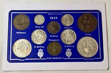 More details for 1944 vintage coin set 77th birthday birth year present wedding anniversary gift