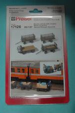Preiser 17126 camionnettes Électriques avec 3 remorques allemand