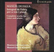 Manuel de Falla: Complete Works for Voice and Piano (CD, Jul-2000, La Ma De Guid