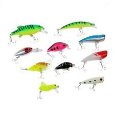 10Pcs/Box Fishing Lure Deep Swimming Hard Baits Fishes Minnow Fishing Diving