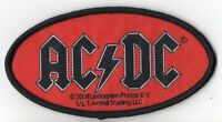 ACDC AC/DC ' Oval Logo '  Woven Patch