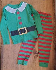 Crazy 8 Elf Pajamas Boys Girls Christmas sz 6 Buddy