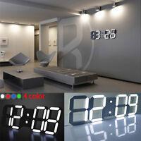 Modern Digital Desk LED Table Night Wall Clock Alarm Watch 24 or 12 Hour Display