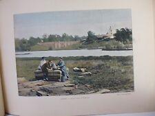 russie: Gravure 19° in folio couleur /Ancien Palais de Tzar:Tzine