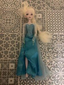 "Disney Store FROZEN Singing ELSA Doll -  lights up motion activated (Large 16"")"