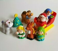 Fisher Price Little People Christmas Bundle Elves Santa Sleigh Unicorn Xmas Toys