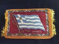 1900's Vintage Fringed Tobacco Felt - Flag - Greece