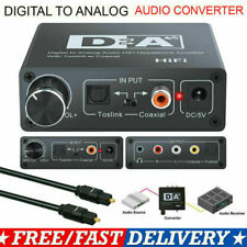 Digital zu Analog Audio Konverter Wandler Adapter Digital Toslink RCA R/L 3.5MM