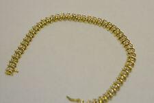"Diamond Tennis Bracelet 7.25"" -10k Yellow Gold & round diamonds 1.88 Ct"