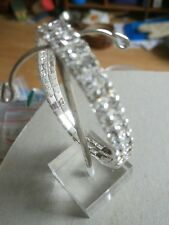 2 row diamanté rhinestone stretch bracelet