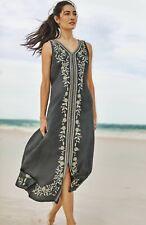 J. Jill ~ L ~ NEW Luxurious Pure Jill Embroidered Linen Maxi Dress  ~ NWT