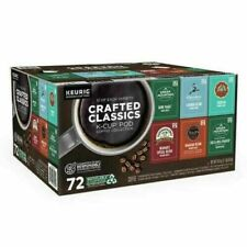 Crafted Classics Coffee Keurig K-Cup Pod Variety Pack 72 kcups