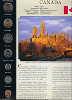 Coins from Around the World Canada 7 coin set BU UNC 2002 - 2009 $2 & $1  2008