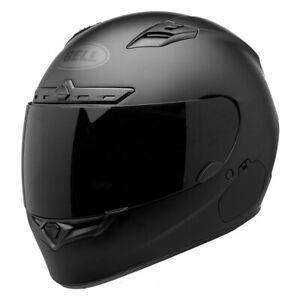 Bell 2018 Street Qualifier DLX Blackout Matt Black Motorcycle Motorbike Helmet