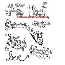 Autumn Leaves Clear Stamps WORD ART V:1 Family Love Prepare to be Amazed