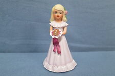 "Enesco Growing Up Birthday Girl Figurine, She is Holding an ""8"" Bouquet 4 1/2"" T"