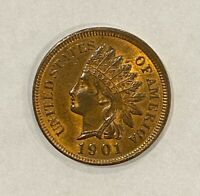 1901 Indian Head Cent **High Quality** ~ BU, MS Details, RB, Fabulous!