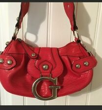 Guess  Bright Coral Leather Handbag