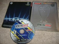 Pro Evolution Soccer 2013 Playstation 3 PS3 game pes 2k13 13 steelbook limited