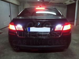 BMW 5 Series F10 2009-2016 Pair T15 W16W Bulbs Reverse Led White 6000K Canbus