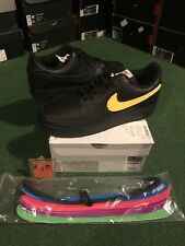 Brand New Nike Air Force 1 Swoosh Pack Sz 11 Ds Black