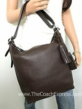 COACH MINT Brown Leather Legacy Duffle Shoulder Crossbody Hobo #19889