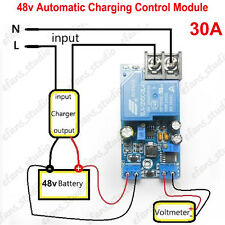 48V 30A Automatic Battery Charging Control Power Supply Protection Relay Board